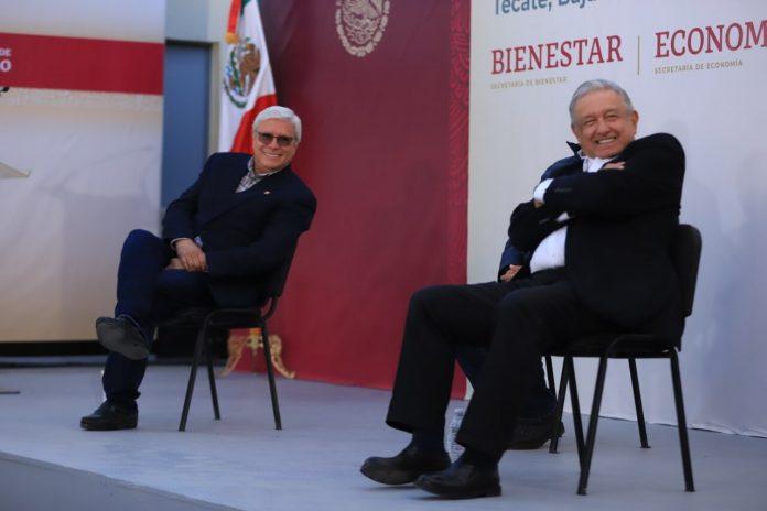 AMLO y el Gobernador de Baja California Jaime Bonilla