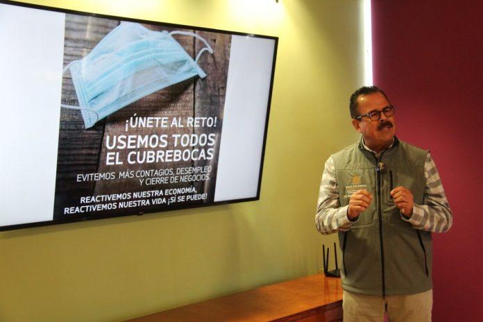 Mario Escobedo promoverá uso de cubrebocas