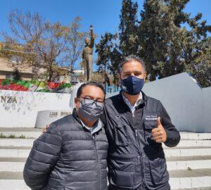 Fotógrafo Efrén Mota y el reportero José Ibarra
