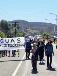 Agricultores marcharon para defender el valle de Guadalupe