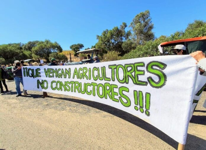 Agricultores se manifiestan en Valle de Guadalupe