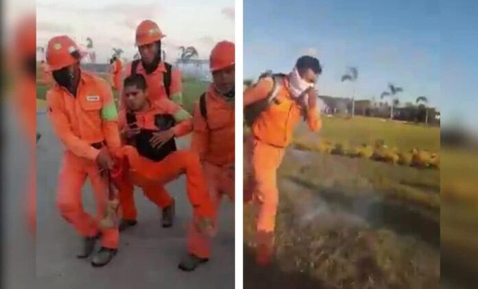 Lesionan a trabajadores de Dos Bocas